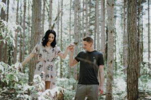 na randce w lesie